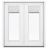 ReliaBilt 71.5-in Blinds Between the Glass Fiberglass French Inswing Patio Door