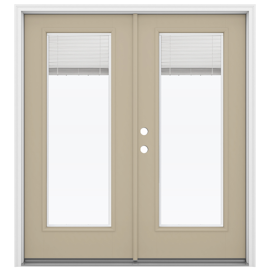 Shop reliabilt 71 5 in blinds between the glass fiberglass for Fiberglass french patio doors