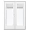 ReliaBilt 59.5-in Blinds Between the Glass Fiberglass French Outswing Patio Door