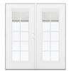 ReliaBilt 71.5-in Blinds Between the Glass Fiberglass French Outswing Patio Door