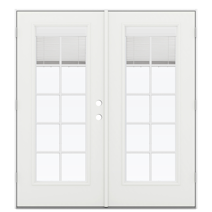 Shop Reliabilt 71 5 In Blinds Between The Glass Fiberglass French Outswing Patio Door At