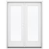 ReliaBilt 59.5-in 1-Lite Glass Steel French Inswing Patio Door