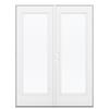 ReliaBilt 59.5-in 1-Lite Glass Steel French Outswing Patio Door