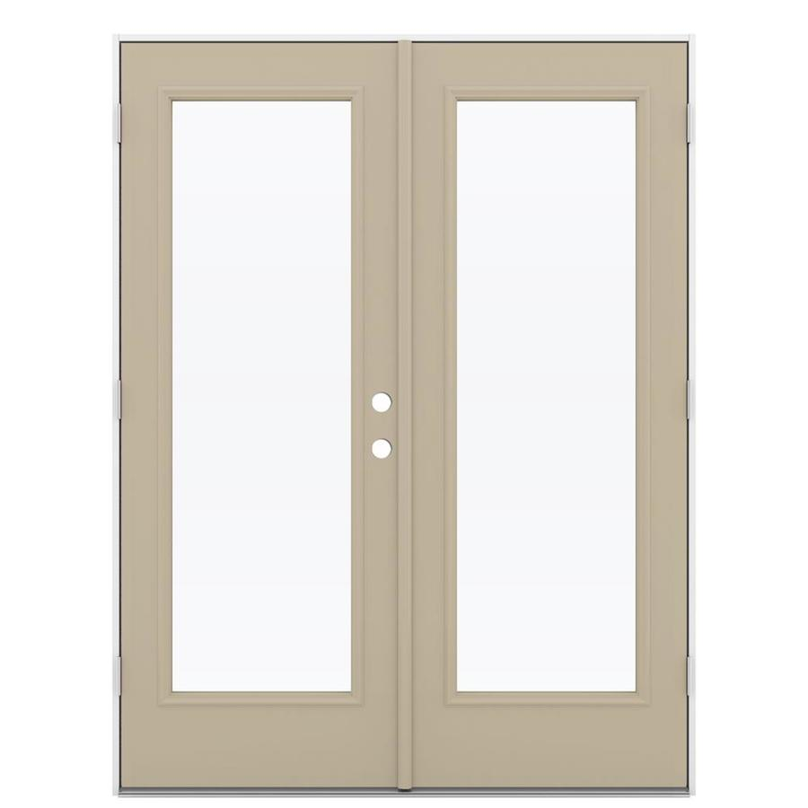 Shop reliabilt 59 5 in 1 lite glass steel french outswing for Special order french doors