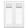 ReliaBilt 59.5-in Blinds Between the Glass Steel French Outswing Patio Door