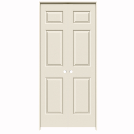 Shop reliabilt primed prehung hollow core 6 panel french - Lowes prehung interior french doors ...