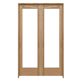 Shop reliabilt prehung solid core 1 lite oak french for 48 inch french doors