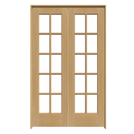 Shop Reliabilt Prehung Solid Core 10 Lite Pine French Interior Door Common 48 In X 80 In