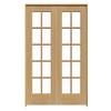 ReliaBilt Prehung Solid Core 10-Lite Pine French Interior Door (Common: 48-in x 80-in; Actual: 49.75-in x 81.5-in)