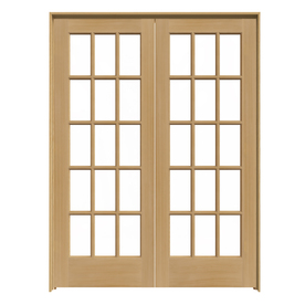 Shop reliabilt prehung solid core 15 lite pine french for 48 inch french doors