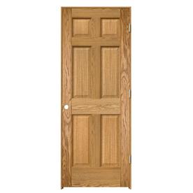Shop Reliabilt Prehung Solid Core 6 Panel Oak Interior Door Common 30 In X 80 In Actual 31