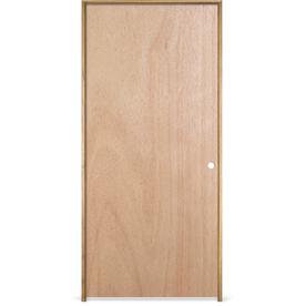 Shop Reliabilt Prehung Hollow Core Flush Lauan Interior Door Common 28 In X 78 In Actual 29
