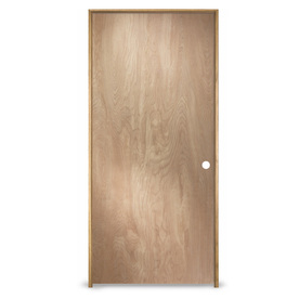 Shop reliabilt prehung hollow core flush birch interior for Solid core flush door price