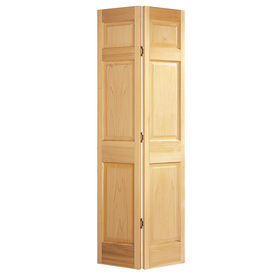 Shop Jeld Wen Solid Core 6 Panel Oak Bi Fold Closet Interior Door Common 24 In X 80 In Actual