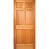 JELD-WEN 6-Panel Solid Wood Core Hem Fir Unfinished Slab Entry Door (Common: 32-in x 80-in; Actual: 31.75-in x 79-in)