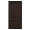 JELD-WEN 2-Panel Insulating Core Left-Hand Inswing Walnut Stain Fiberglass Stained Prehung Entry Door (Common: 36-in x 80-in; Actual: 36-in x 80-in)