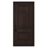 JELD-WEN 2-Panel Insulating Core Right-Hand Inswing Walnut Stain Fiberglass Stained Prehung Entry Door (Common: 36-in x 80-in; Actual: 36-in x 80-in)