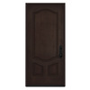 JELD-WEN 3-Panel Insulating Core Left-Hand Inswing Walnut Stain Fiberglass Stained Prehung Entry Door (Common: 36-in x 80-in; Actual: 36-in x 80-in)