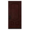 JELD-WEN 3-Panel Insulating Core Right-Hand Inswing Wineberry Stain Fiberglass Stained Prehung Entry Door (Common: 36-in x 80-in; Actual: 36-in x 80-in)
