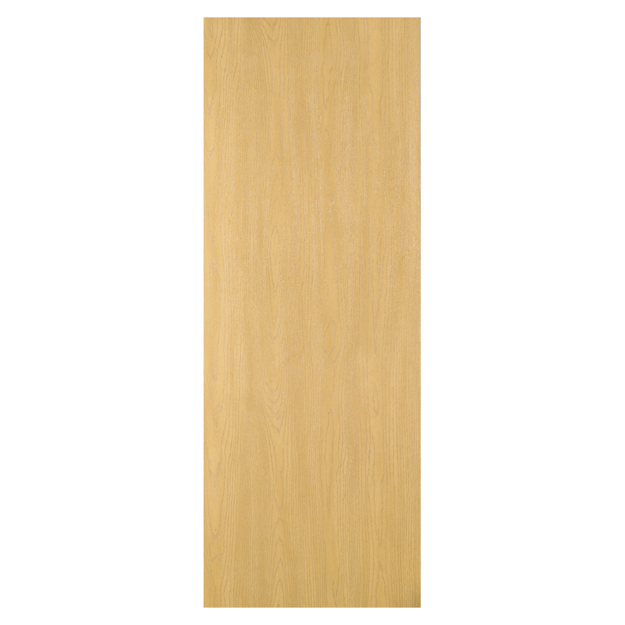 80 in flush oak solid core non bored interior slab door at