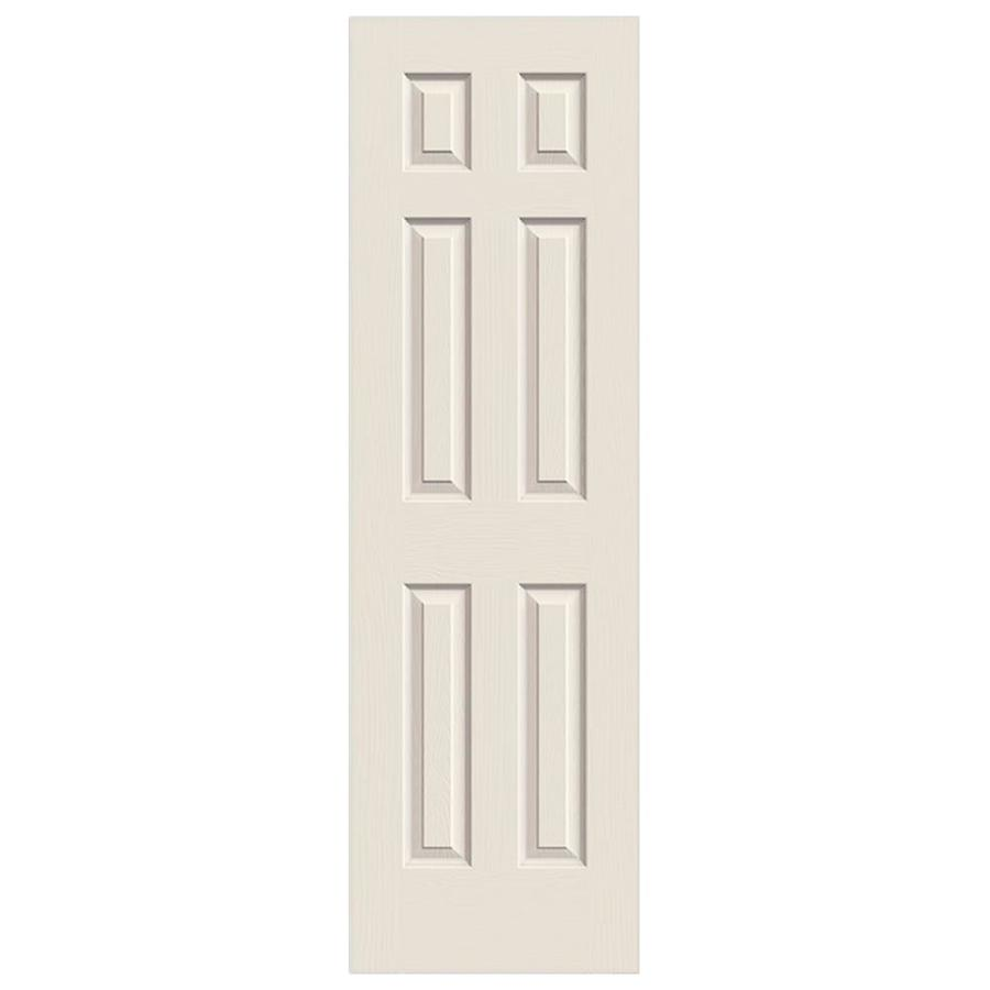 Shop reliabilt 6 panel hollow core textured bored interior slab door common 24 in x 80 in - Hollow core interior doors lowes ...