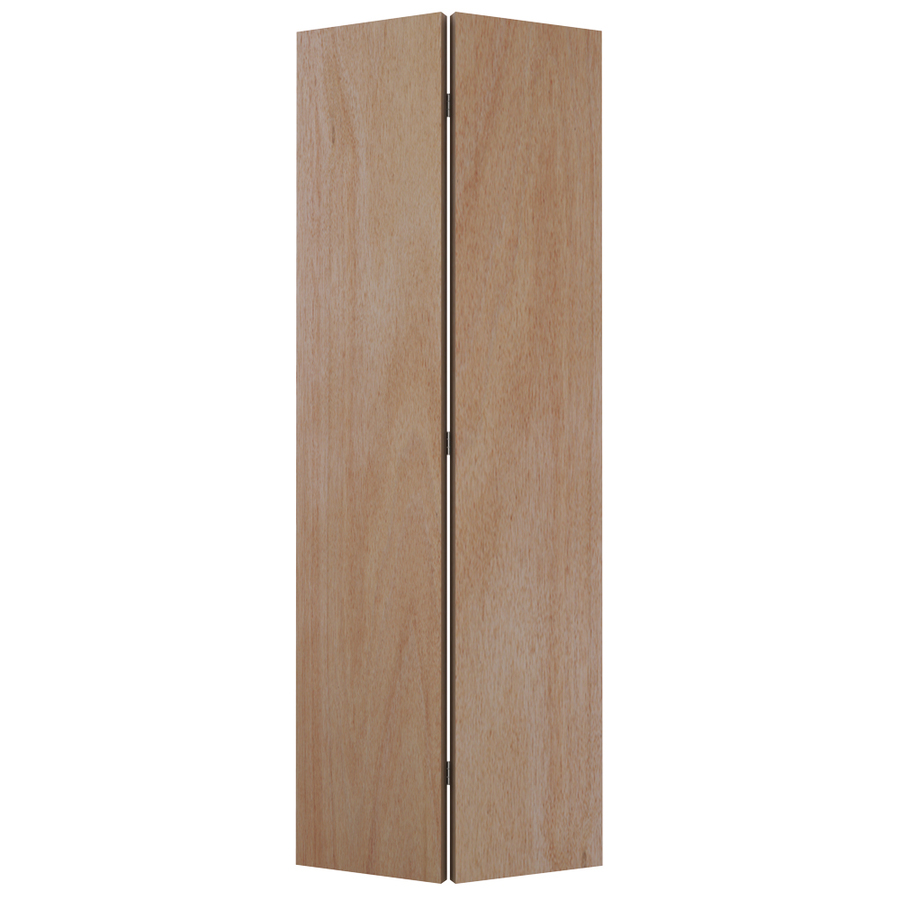 Shop reliabilt 32 in x 79 in flush hollow core wood interior bifold closet door at - Hollow core interior doors lowes ...