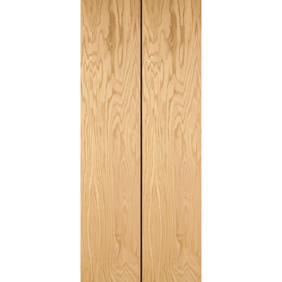 Oak Bifold Closet Doors : Shop reliabilt flush hollow core oak bifold closet door