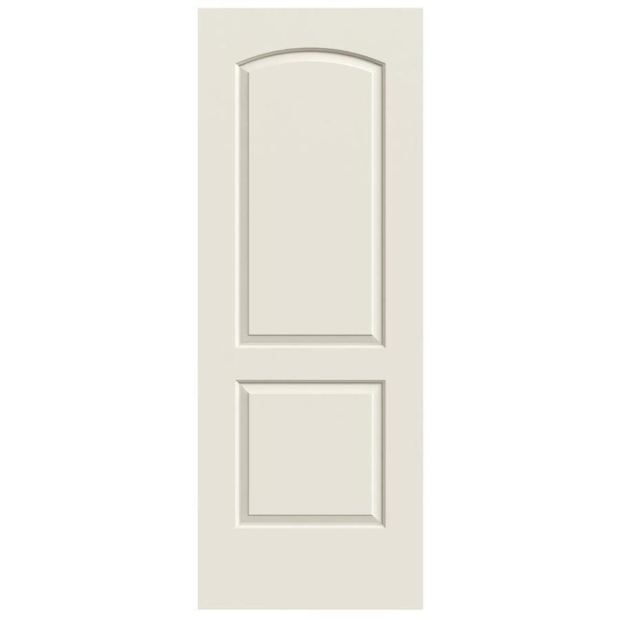 Shop Reliabilt 2 Panel Round Top Hollow Core Smooth Non Bored Glass Interior Slab Door Common