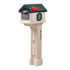 Step 2 MailMaster 14-in x 51-1/2-in Plastic Tan/Green Post Mount Mailbox with Post