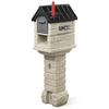 Step 2 MailMaster 13-1/2-in x 54-in Plastic Stone Gray/Black Post Mount Mailbox with Post