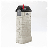 Step2 Mailmaster 15.25-in x 53.375-in Plastic Stone Gray/Black Lockable Post Mount Mailbox