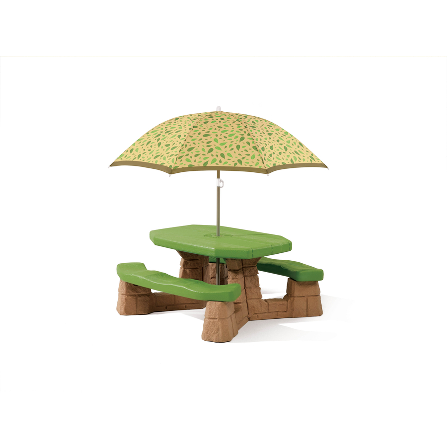 Umbrella For Picnic Table : Shop Step2 Naturally Playful Picnic Table with Umbrella at Lowes.com