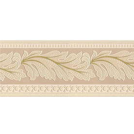 Shop style selections 5 in beige prepasted wallpaper for Cheap wall border