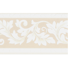 """Style Selections Bge Scrolling Leaf 5"""" Text Wallpaper Border"""