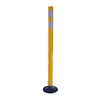Three D Traffic Works 42-in Round Boomerang Traffic Yellow Post and Base