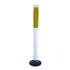 Three D Traffic Works 36-in Flat Boomerang Traffic White Post and Base