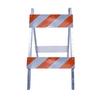 Three D Traffic Works Type II Plywood/Galvanized Steel Folding Barricade