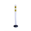 Three D Traffic Works 36-in Round Boomerang Traffic White Post and Base
