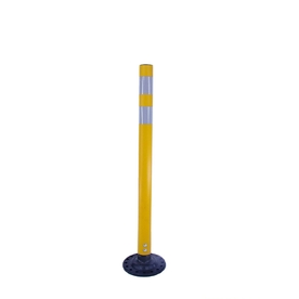Three D Traffic Works 36-in Round Boomerang Traffic Yellow Post and Base