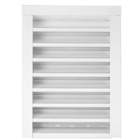 CMI 14-in x 18-in White Rectangle Steel Gable Vent