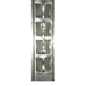 Construction Metals Inc. 96-in L Silver Aluminum Soffit Vent