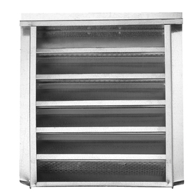 CMI 14-in x 24-in Silver Rectangle Steel Gable Vent