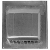 CMI 18-3/4-in x 16-3/4-in Gray Steel Roof Vent