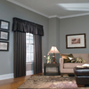 allen + roth 18-in L Chocolate Lincolnshire Tailored Valance