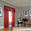 allen + roth 18-in L Red Lincolnshire Tailored Valance