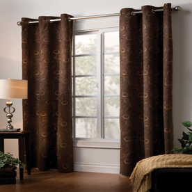 Style Selections 84-in L Espresso Eton Curtain Panel