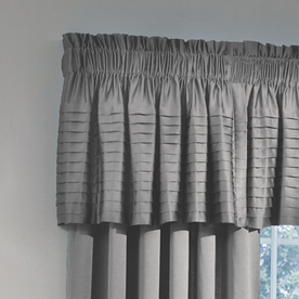 allen + roth 18-in L Gray Lincolnshire Tailored Valance