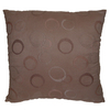 Style Selections Eton 18-in x 18-in  Espresso Square Throw Pillow