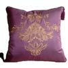 Style Selections Charlotte 18-in x 18-in Eggplant Square Pillow