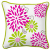 Style Selections Kara 18-in x 18-in White and Green SquareThrow Pillow